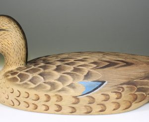 NICE MALLARD HEN DECOY CARVED BY DAVEY NICHOL